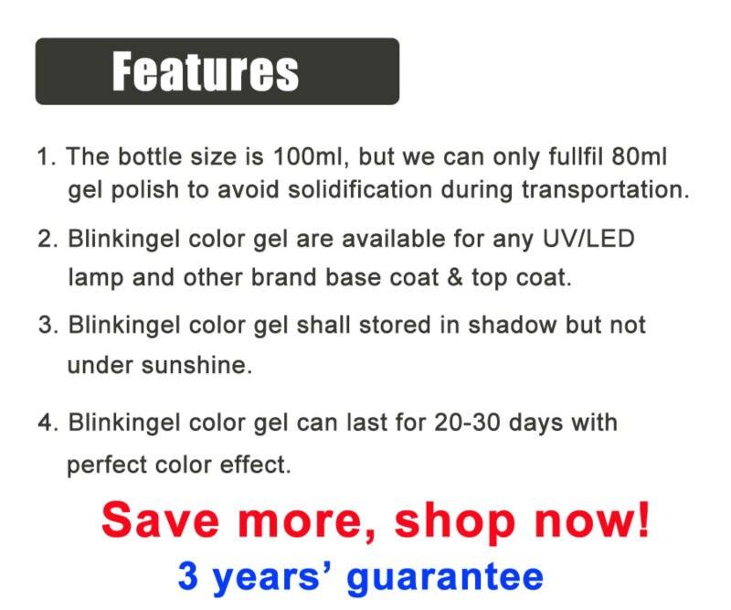 80ml Color Gel Features