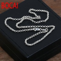 4mm chain 100% 925 sterling silver necklace men pendant women 925 fine Vintage jewelry New Thai silver