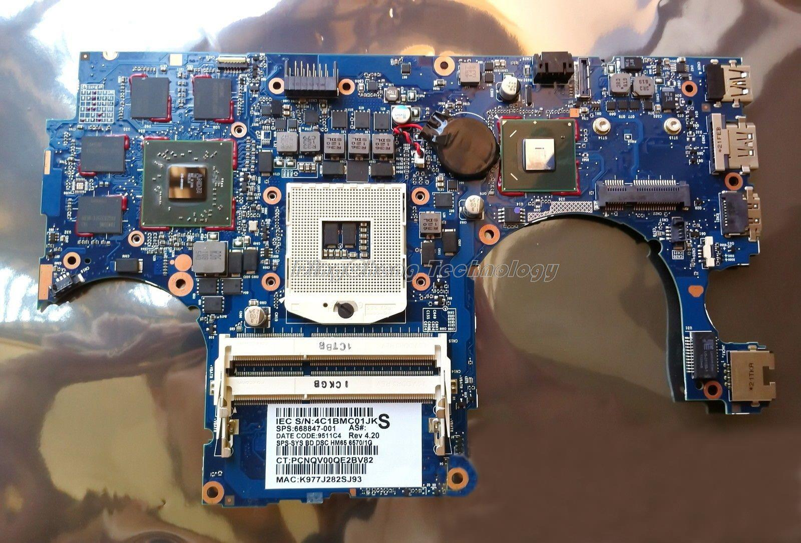 SHELI laptop Motherboard For hp ENVY15 668847-001 HM65 HD6570/1GB non-integrated graphics card