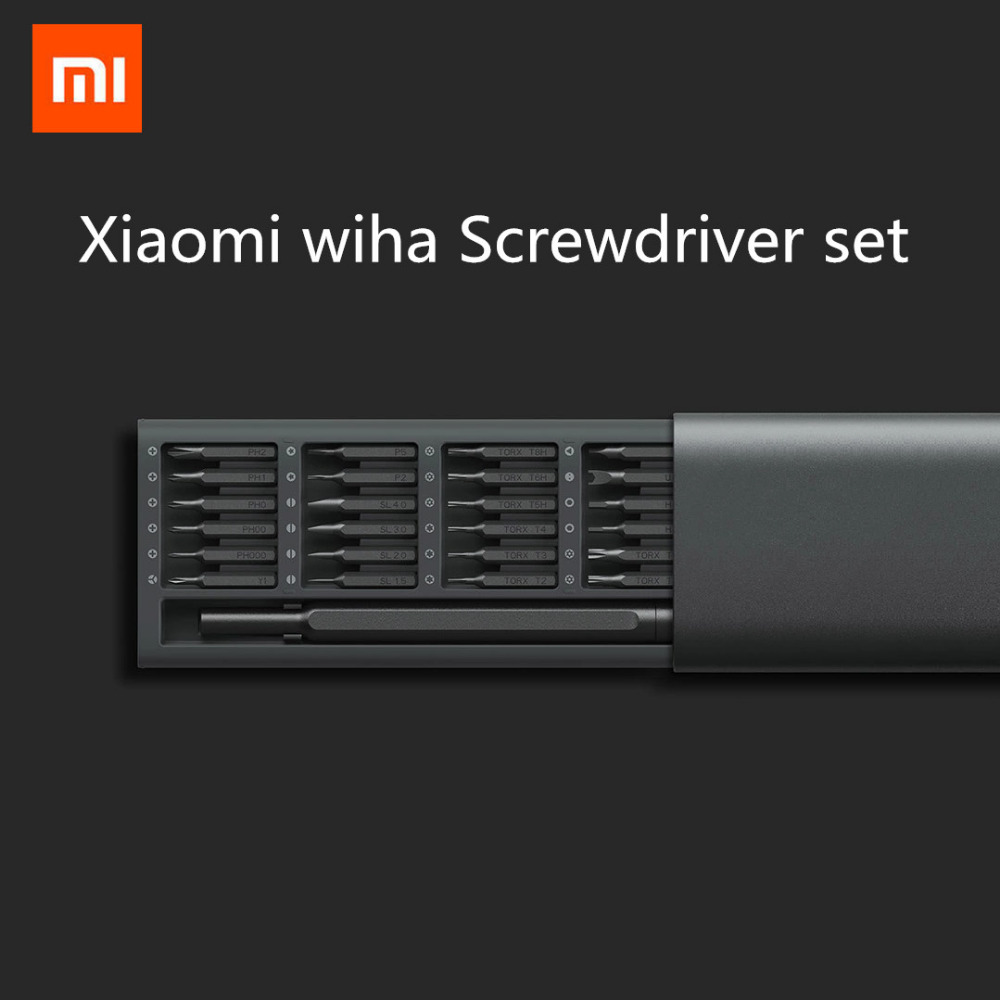 In Stock Xiaomi Mijia Wiha Daily Use screwdriver Kit 24 Precision Magnetic Bits Aluminum Box Screw Driver xiaomi smart home Kit