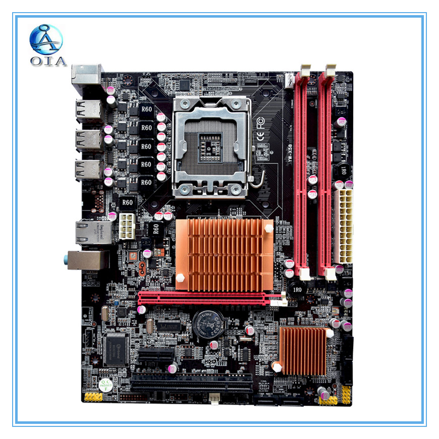New motherboard x58 motherboard 6*USB2.0 port support ecc ram  LGA 1366 DDR3 ATX mainboard
