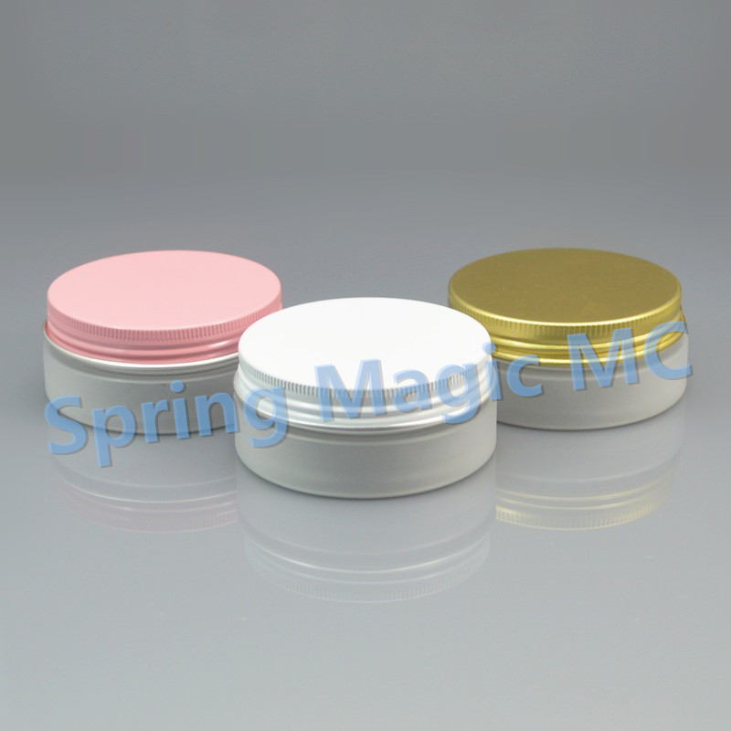50g Frosted plastic cream Jar with Aluminum lid cosmetic container cream jar Cosmetic Jar cosmetic packaging