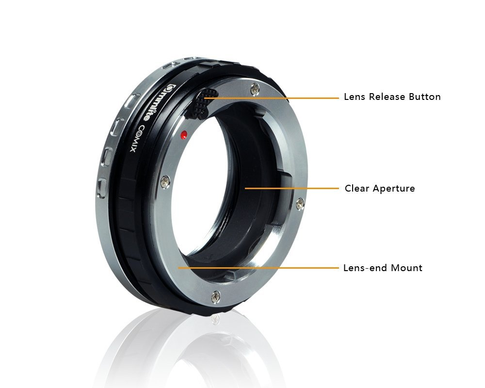 Commlite CoMix LM-E Macro Close-focus Lens Mount Adapter Ring for Leica Zeiss, Voigtlander M Series Lens and Sony E-Mount Camera macro extension tube for sony e mount ac ms silver grey