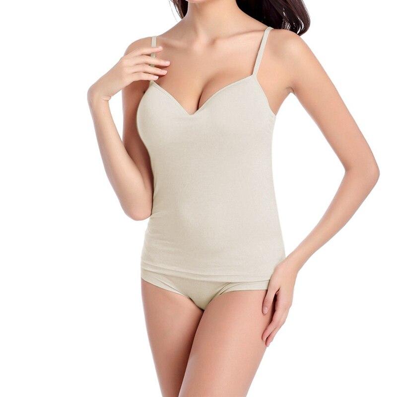 Women Casual Tank Top Vest Blouse Sleeveless Crop Tops Shirt - Цвет: Бежевый