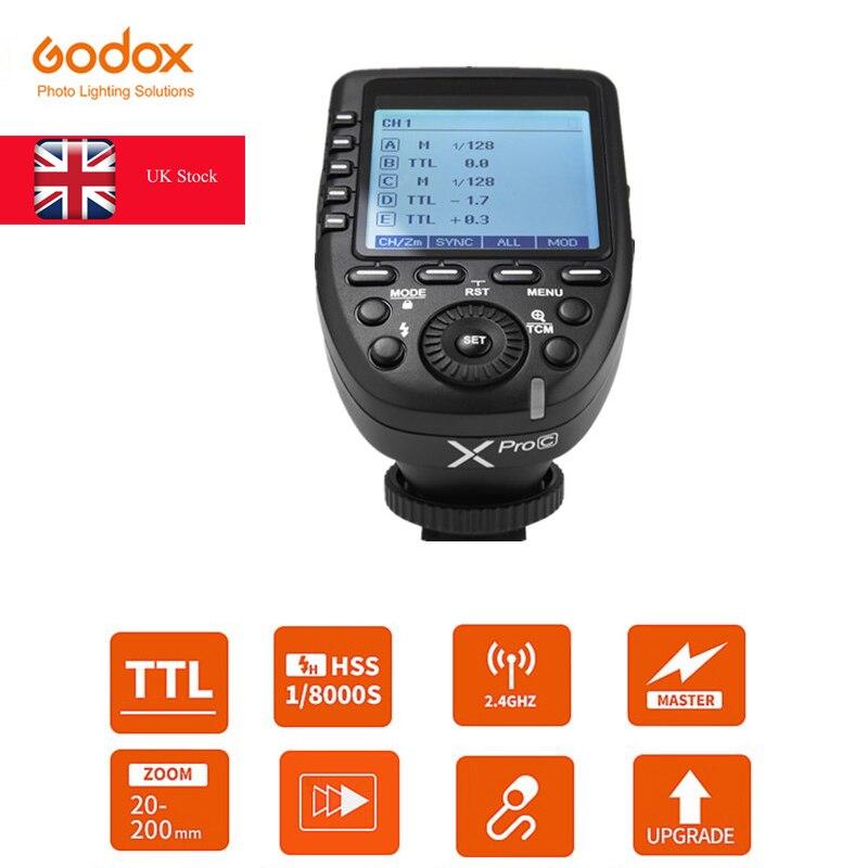 Déclencheur Flash émetteur sans fil Godox Xpro 2.4G TTL pour appareil photo Canon Nikon Olympus Fuji (Xpro-C/N/O/S/F/P)