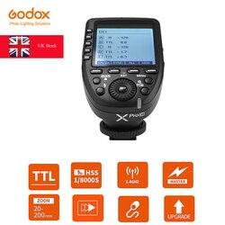 UK Stock Godox Xpro 2.4G TTL Wireless Transmitter Flash Trigger for Canon Nikon Sony Olympus Fuji Camera (Xpro-C/N/O/S/F/P)