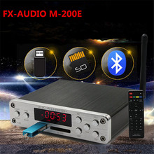 FX-AUDIO M-160E Bluetooth@4.0 Digital Audio Amplifier 160W*2 Input USB/SD/AUX/PC-USB Loseless Player For APE/WMA/WAV/FLAC/MP3