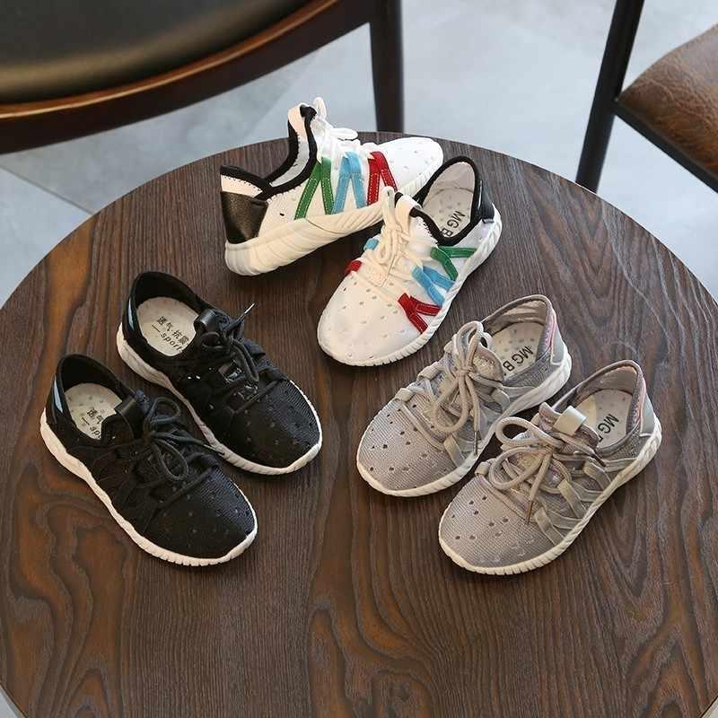 CNFSNJ מותג 2018 מכירה לוהטת אביב סתיו ילדים חדשים מקרית בני בנות ילדים נעלי ריצה נעלי ספורט 26-30