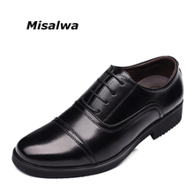 Misalwa Brand Men Business Standard Officer Men Leather Shoes Men Formal Shoes Men Oxfords Flats Free Drop Shipping