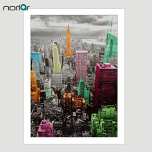 No Frame Modern Wall Art Canvas Printed Empire State Building New York City Painting Wall Pictures For Living Room