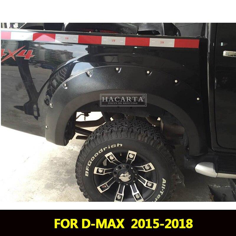 Fender Flares For Isuzu D max 2016 2018 Accessories Mudguards For Chevrolet Isuzu dmax 2018 fender Part car styling