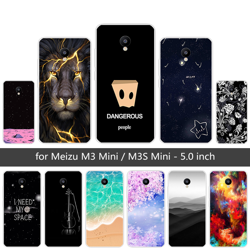 For <font><b>Meizu</b></font> M3/<font><b>Meizu</b></font> M3 Mini Sunrise Case Soft Silicone For <font><b>Meizu</b></font> <font><b>M3S</b></font>/<font><b>Meizu</b></font> <font><b>M3S</b></font> Mini Clear Case Shell Black Matte <font><b>Back</b></font> Phone <font><b>Cover</b></font> image