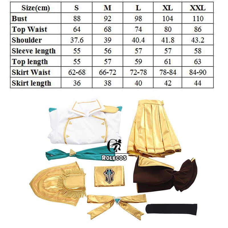 ROLECOS Игра LOl Lux маскарадный костюм супергероини битва училища престиж люкс косплей костюм женская униформа полный комплект Топ Юбка