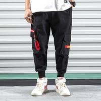Male Joggers Sweatpants Men Fashion Casual Cargo Pants Streetwear Hip Hop Harem Trousers