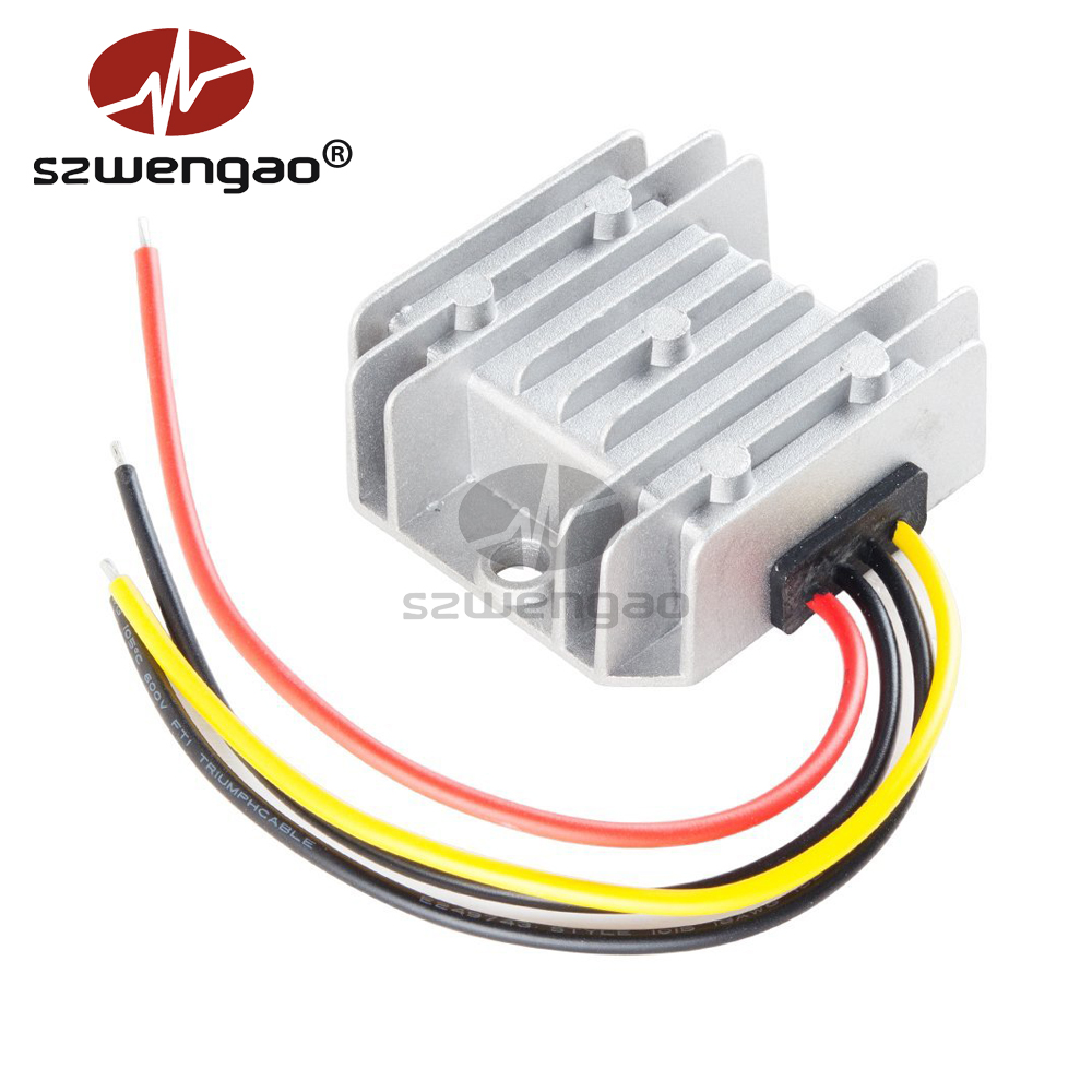 Waterproof DC//DC Car Voltage Converter 12V Step Up to 24V 6A 72 Power Supply