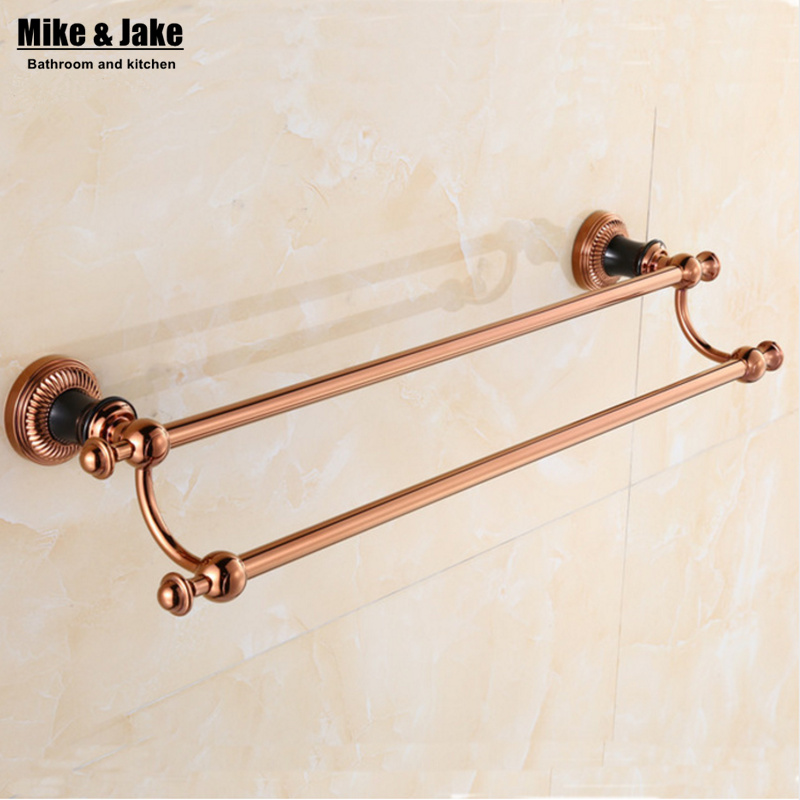 Towel Holder Bath Products,Bathroom Accessories Bathroom Towel Bar Luxury  Rose Golden Double Towel Bar,red Golden