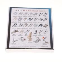 CY-032 32 stücke Heimischen Nähmaschine Nähfuß Feet Kit Set Mit Box Für Brother Singer Janom