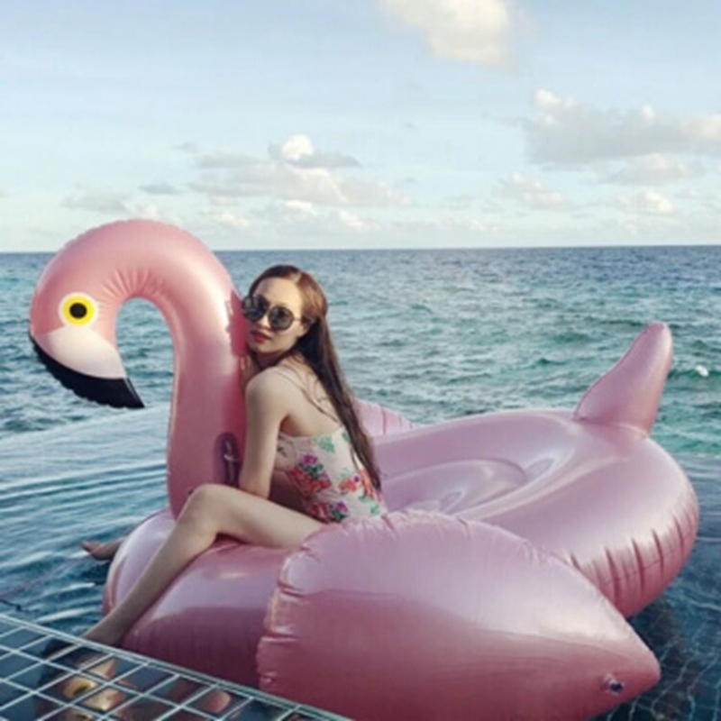 Giant Inflatable Flamingo 60 Inches Unicorn Pool Floats Tube Raft Swimming Ring Circle Water Bed Boia Piscina Adults Party Toys (5)