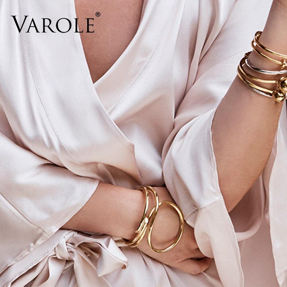 VAROLE Einfache Linien Übertrieben Manschette Armbänder & Armreifen - Modeschmuck - Foto 6