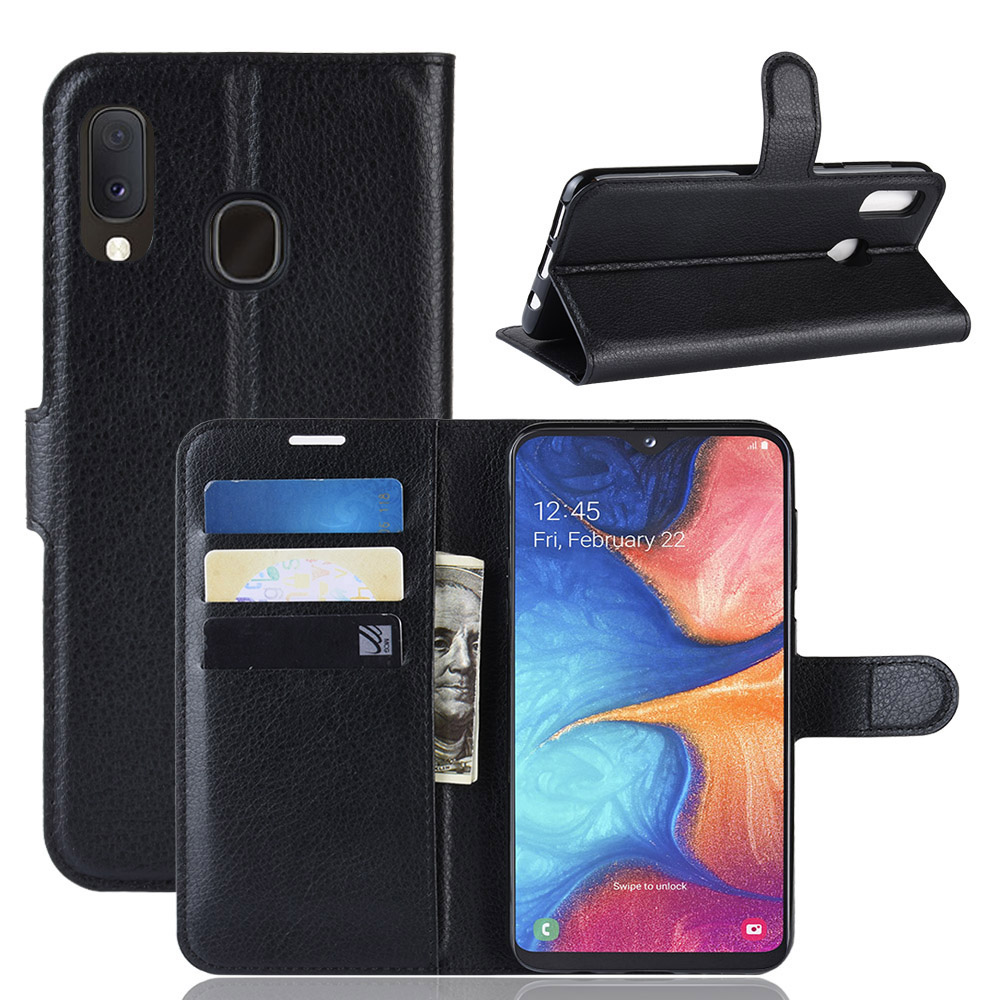 For <font><b>Samsung</b></font> <font><b>Galaxy</b></font> <font><b>A20e</b></font> Case Premium PU Leather Card Slots Wallet Stand Case for <font><b>Samsung</b></font> <font><b>Galaxy</b></font> <font><b>A20e</b></font> <font><b>SM</b></font>-<font><b>A202F</b></font> image