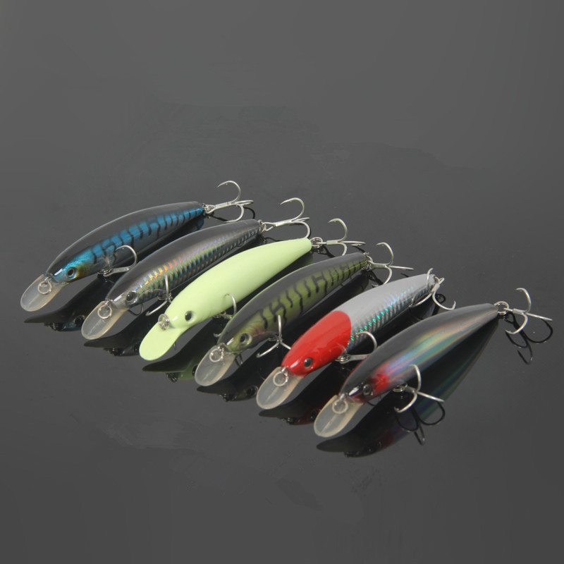 Day Night Fishing Minnow Glow Lure 11cm 14.3g Float Long Shot Casting Lures Artificial Hard Luminous Bait