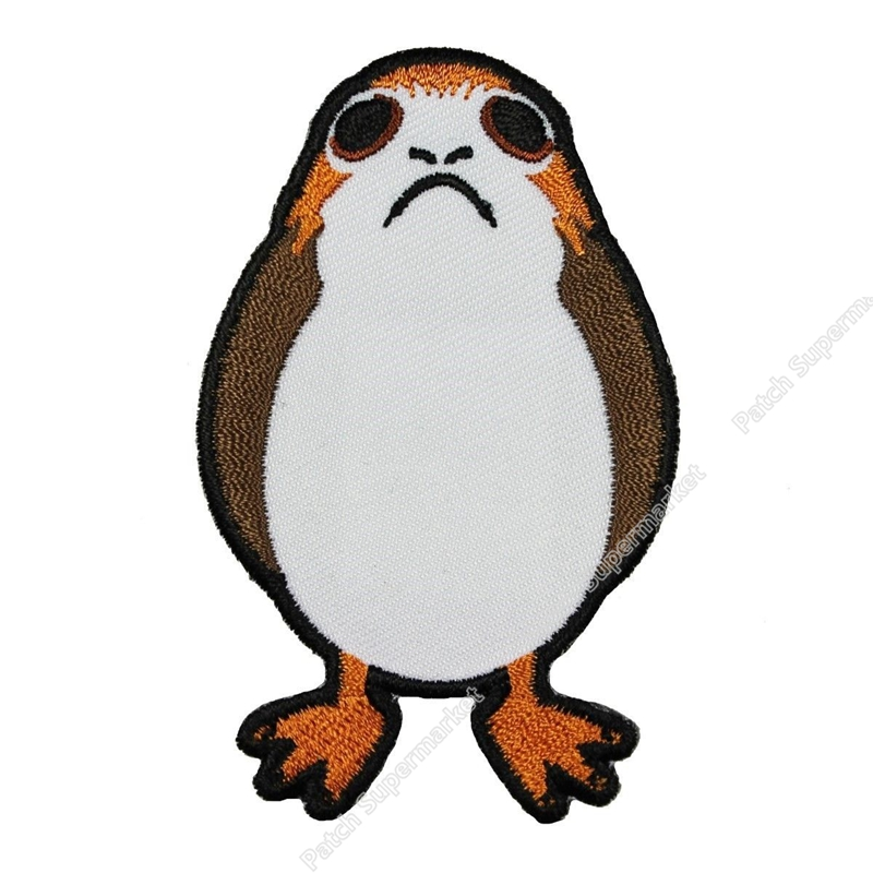 """3 """"Star Wars Porg Patch Leuke De Laatste Jedi TV Movie Kostuum Geborduurde Emblem applique ijzer op badge voor kleding kleding-in Lappen van Huis & Tuin op  Groep 1"""