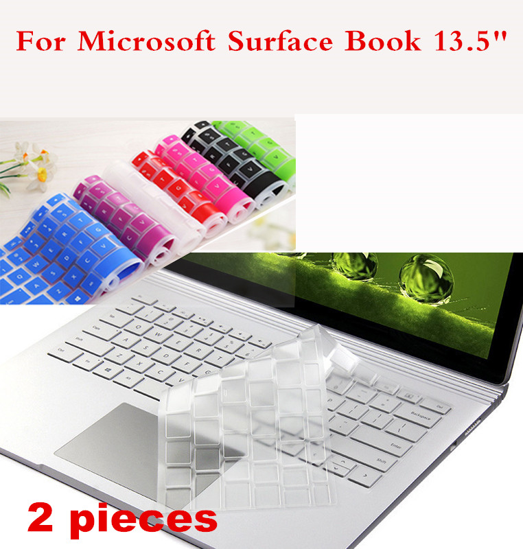 2 Pieces Washable Laptop Keyboard Cover For Microsoft Surface Book 13 5 Waterproof Cover Film For