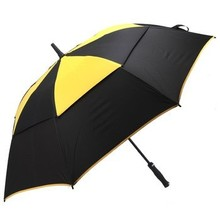 134cm diameter golf fishing umbrella,auto open.14mm fiberglass shaft and 5.0 fiberglass ribs,double layer,windproof