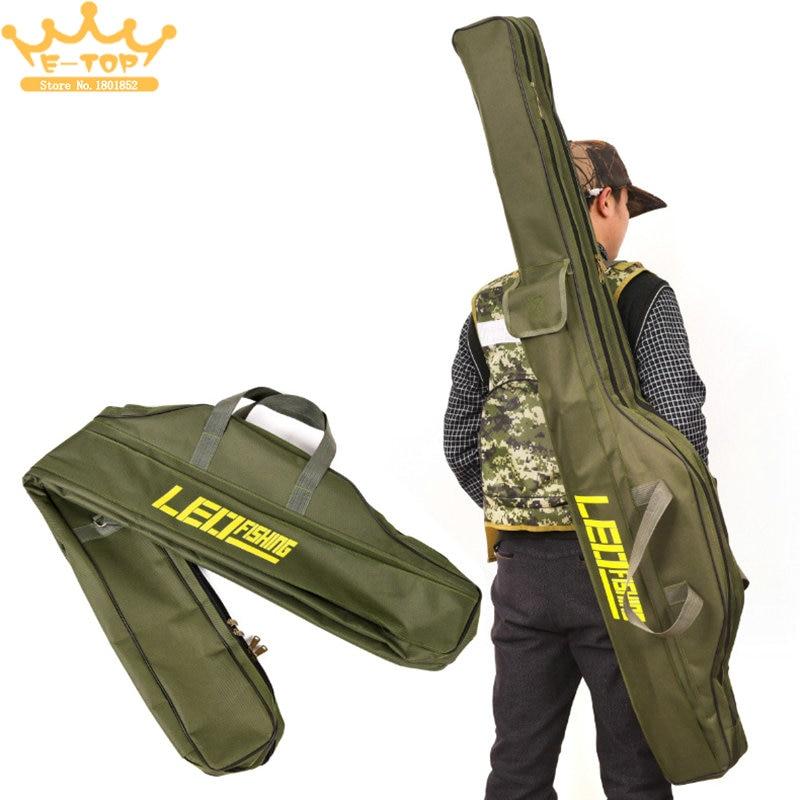 1.5M 2 Compartments Multi-purpose Foldable Fishing Rod Bag Oxford Cloth Fishing Tackle Storage Bag