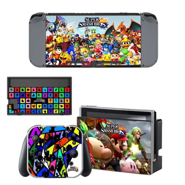 Nintend Switch Vinyl Skins Sticker For Nintendo Switch Console and Controller Skin Set - Super Smash Bros 5