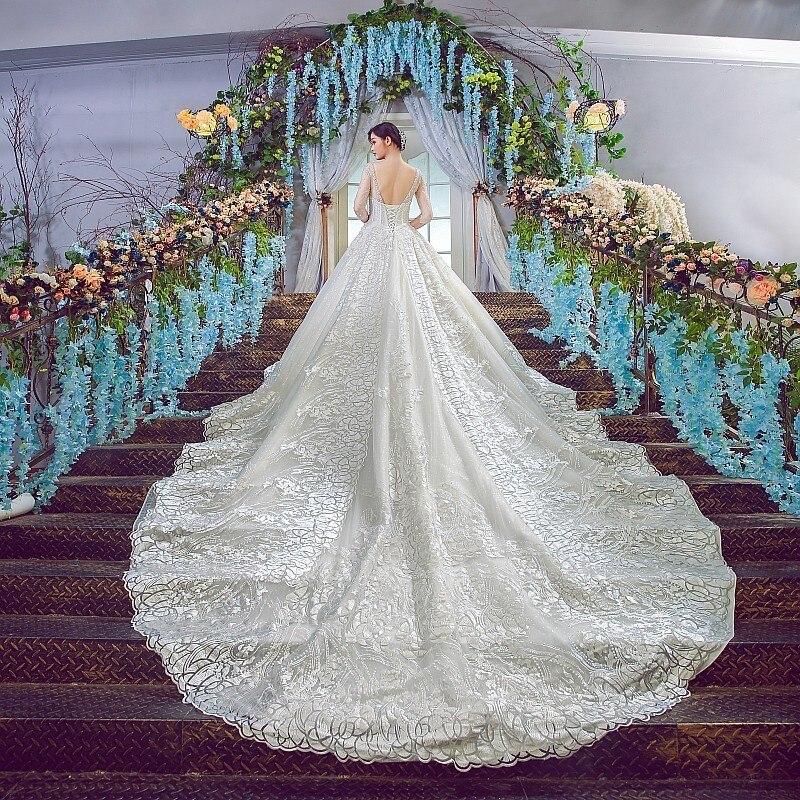 Backlake Diamant Perles De Luxe De Mariage Gwons Champagne Sexy Robe De Mariee 2018 Robe