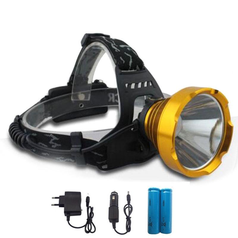 High Powerful Led Scheinwerfer Frontale Taschenlampe Laterne Scheinwerfer wiederaufladbare Stirnlampe Taschenlampe 18650 für Camping Wandern Angeln