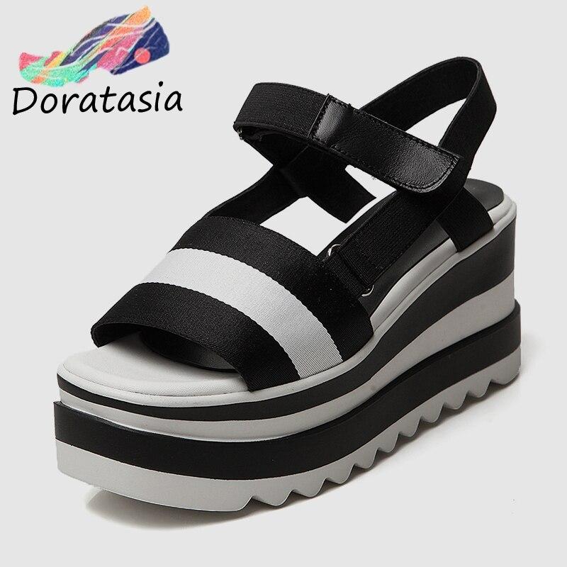 DoraTasia 2019 New Brand Summer Platform Sandals Shoes Women Leisure Wedge High Heels Casual Women Beach
