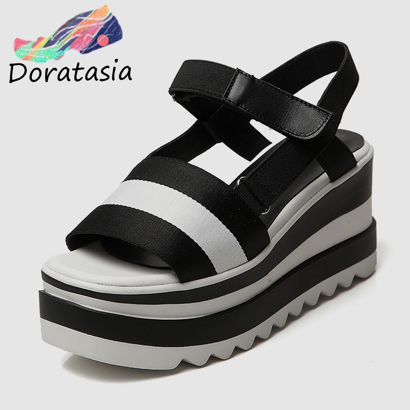 DoraTasia 2019 New Brand Summer Platform Sandals Shoes Women Leisure Wedge High Heels Casual Women Beach Shoes WomanDoraTasia 2019 New Brand Summer Platform Sandals Shoes Women Leisure Wedge High Heels Casual Women Beach Shoes Woman
