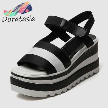 DoraTasia 2019 New Brand Summer Platform Sandals Shoes Women Leisure Wedge High Heels Casual Women Beach Shoes Woman - DISCOUNT ITEM  40% OFF All Category