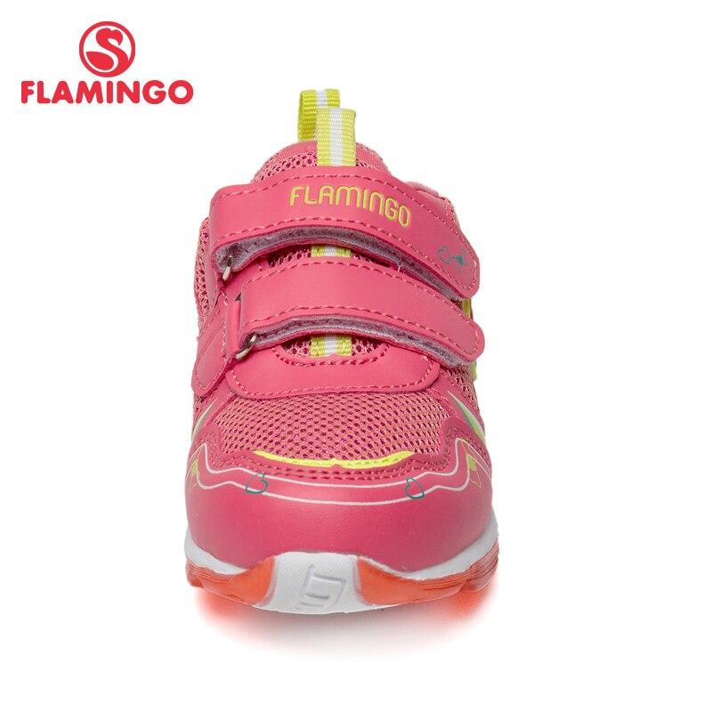 Кроссовки Фламинго для девочек 81K BK 0584, кожаная стелька, вид застежки липучка, подошва со светодиодами, для спорта и отдыха. - 4