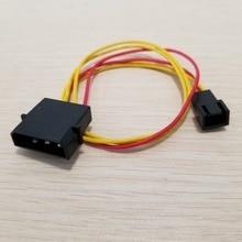 10 шт./лот PC IDE Molex до Вентилятор охлаждения Cooler 3pin разъем Питание кабель 22AWG 30 см