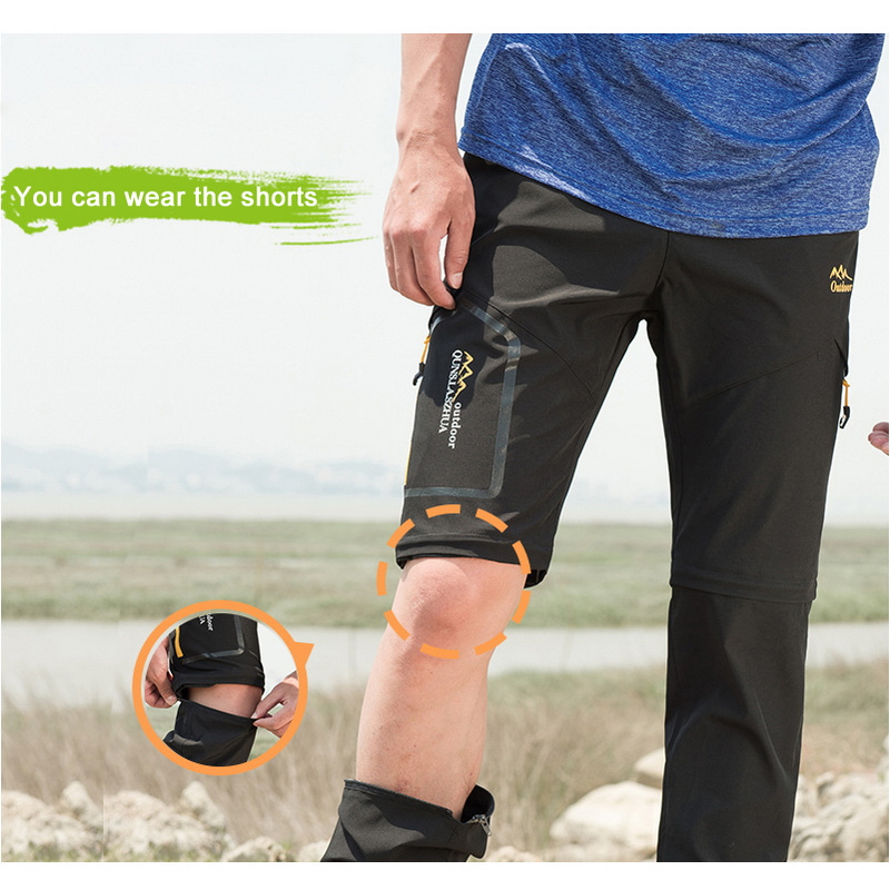 2ae9cba044f LoClimb S 6XL Stretch Camping Hiking Sports Pants For Men Women Summer  Outdoor Trekking Cycling Waterproof Trousers Shorts