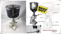 A03 Upgraded High Precision small bottle handle operate stainless steel Manual paste liquid filling machine 5 50ml