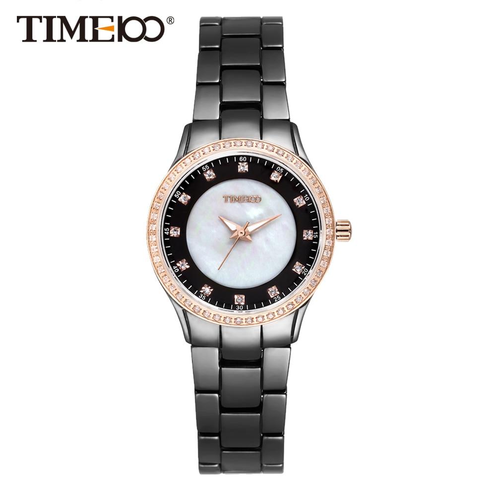 Time100 Women Watches ceramiac Luxury Fashion Black High Density Ceramic Strap Diamond Shell Dial Wrist Watch relogios feminino карабин black diamond black diamond rocklock twistlock