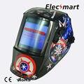 Capitán americano oscurecimiento Automático de soldadura casco TIG MIG MMA máscara de soldadura eléctrica/casco/soldador/lente para soldadura