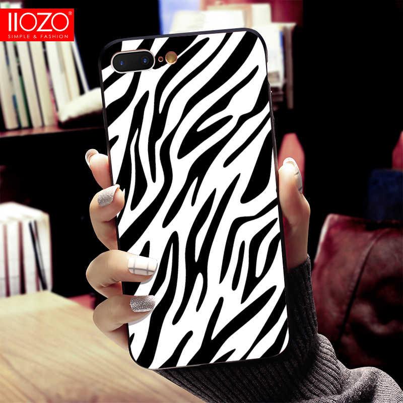 Ốp điện thoại Cho iPhone 6 6S 7 8 Plus X XS XR XS MAX Da Rắn Ngựa Vằn Da Báo cá sấu Mềm TPU Ốp Lưng Silicone Vỏ