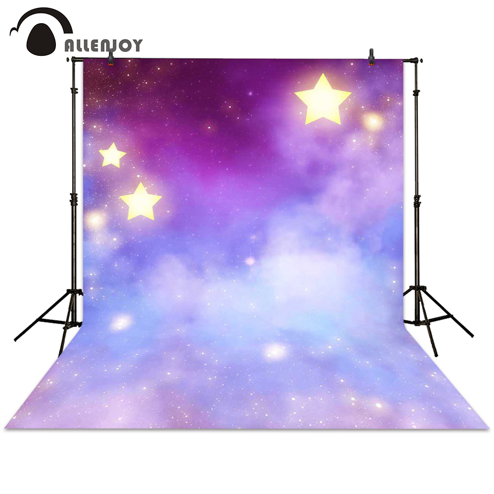 Allenjoy photo background photography purple Galaxy star colorful hazy newborn baby backdrop photocall photographic photo studio