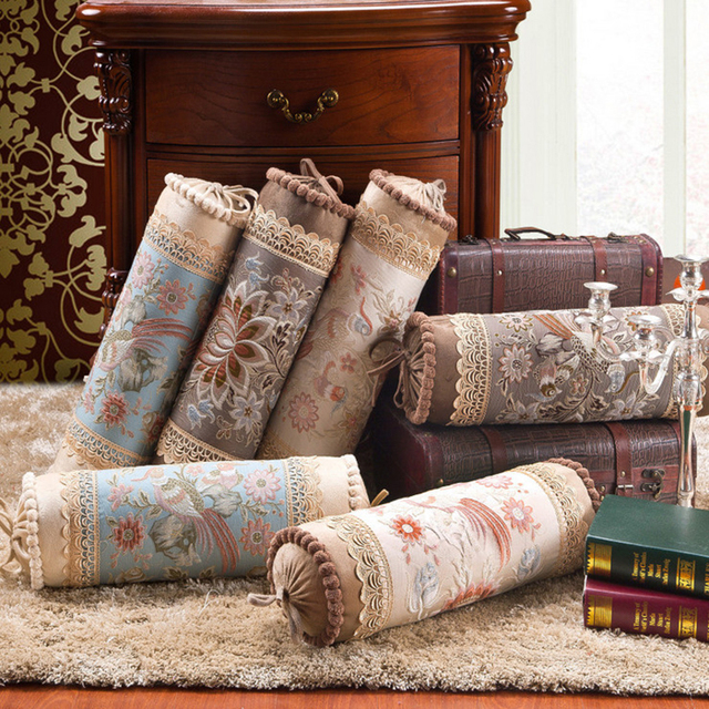 Luxury High Grade Sofa Candy Cushion Decorative Throw Pillows Home Textile  Floral Embroideried Plush Long