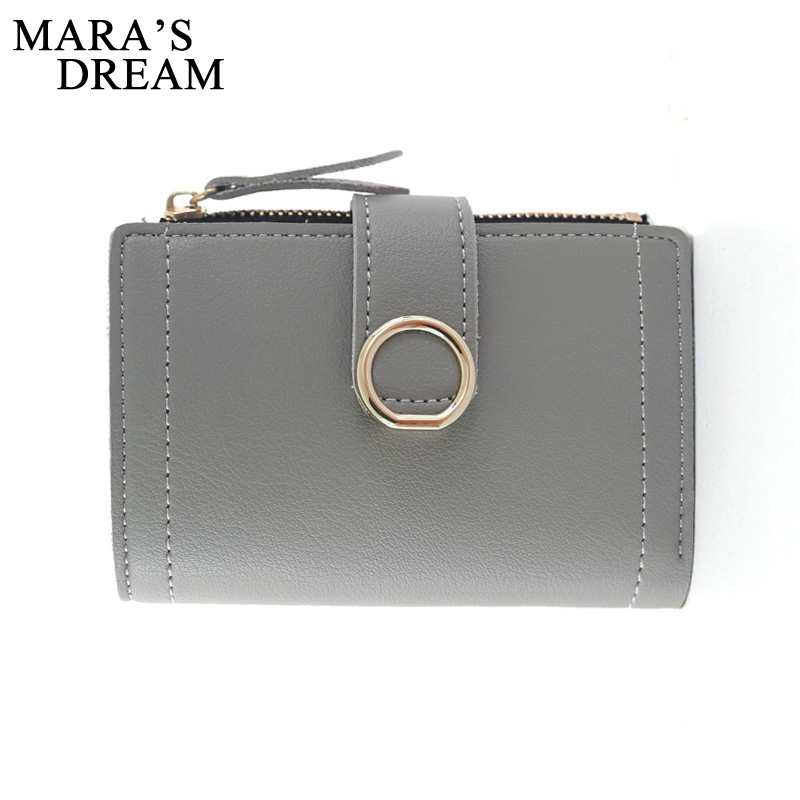 Mara's Dream Women PU Leather Wallet Fashion Lady Portable Multifunction Short Solid Color Change Purse Female Clutch Carteras fashion elegant women long leather wallet portable multifunction solid color purse hot female change purse lady clutch carteras