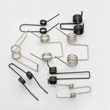 Ressort de torsion multifonctionnel en acier, 2 pièces, double torsion, diamètre de fil de 2mm, bricolage, nouveau prix de gros