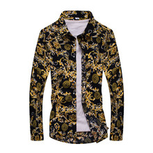 Popular Denim and Flower Men Shirt-Buy Cheap Denim and Flower Men ...