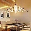 2017 novo design de luzes modernas luzes do pendente para sala de estar sala de jantar cozinha acrílico corpo pendurado lâmpada led de iluminação 75 w