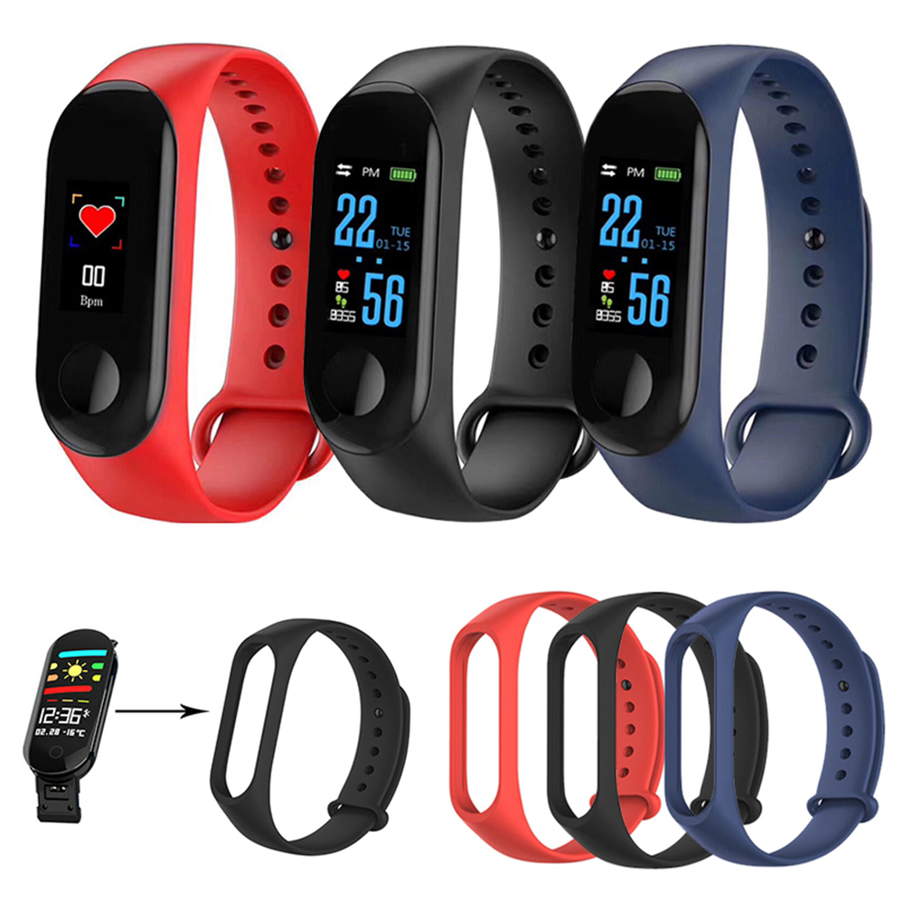 New Smart Bracelet Replace Silicone Wrist Strap For M3 Replacement Watch Band Strap Solid Color Bracelet Smart Accessories