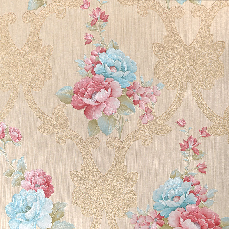 Pastoral Deep Embossed Living Room Sofa TV Background Home Decor Mural Wall Paper Rolls Bedroom Flowers Wallpaper For Walls 3 D beibehang high quality embossed wallpaper for living room bedroom wall paper roll desktop tv background wallpaper for walls 3 d